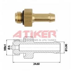 1,30 mm -  M 8 x 1