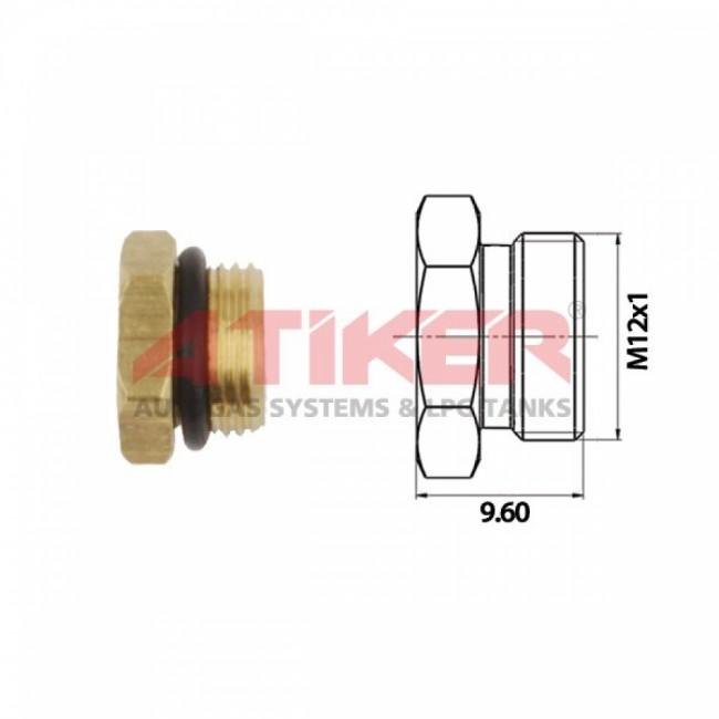 Заглушка инжектора  M10 x 1 с уплотнительным кольцом