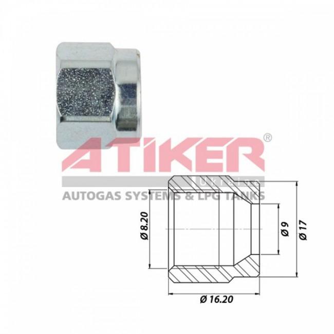 Гайка для термопластиковой трубки Ø6-M14x1